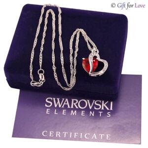 Collana argento Swarovski Elements originale G4Lov cristallo cuore donna ragazza