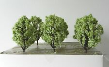 6 x APPLE GREEN WHITE MODEL TREES 8 cm SCENERY FOR MODEL RAILWAY OO HO SCALE #3