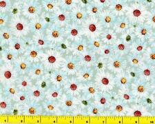 Aqua Field of Daisies Fat Quarter CFLGRE03095