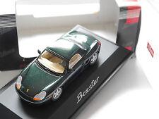 PORSCHE Boxster tipo 986 Hard Top in Verde Green Metallic, Schuco in 1:43 Boxed!