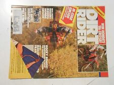 JANUARY 1986 DIRT RIDER MAGAZINE,M-STAR GM500,SUZUKI RM80G,HONDA CR 125R,HUSKYS