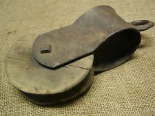 Vintage Iron & Wood Pulley > Farm Wheel Antique Old