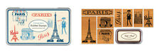 Cavallini - Tin of 8 Rubber Stamps - Vintage Paris - Black Ink Stamp Pad Inc