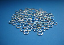 50pcs 6mm silver plated soldered closed jump rings jewellery making findings