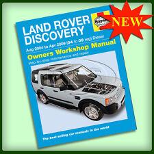 Land Rover Discovery 3 Diesel-Haynes Manual de taller `04 `09 (da4505)