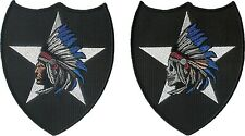 "Pair of 2nd Infantry Division ""Indian Head"" and Indian Skull Head"" patches 2ID"