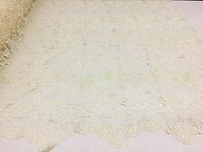 Special Guipure Lace fabric, Elegant Flower Embroidery, Chemical Lace Fabric, 11