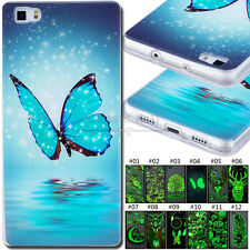 For Huawei P8 Lite Silicone Fluorescence Soft TPU Skin Case Protective Gel Cover