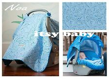 THE WHOLE CABOODLE CARSEAT CANOPY 5pc Set for Infant Car Seat  ~ NOA ~