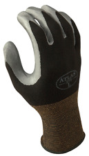 Atlas Fit 370 Showa Black Large Nitrile Gardening Thin Work Gloves, 3-Pairs
