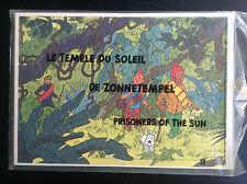 Rare Ancien puzzle du chèque Tintin des années 70  Temple du Soleil  NEUF