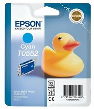 ORIGINALI Epson t0552 CIANO EPSON STYLUS PHOTO r240 r245 rx420 rx520 rx425