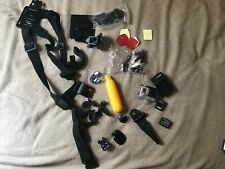 GoPro Hero 3+ Silver Edition outfit with accessories/batteries/cha rger
