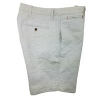 Untuckit Mens 32 Flat Front Cotton Stretch Chino Walking Shorts