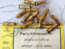 10x NOS Siemens 4700pf/400v b13040 vintage carta canalizzatore Klangfilm
