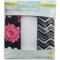 "Babyville Boutique 21""x24"" Pul Waterproof Diaper Fabrics 3pcs"