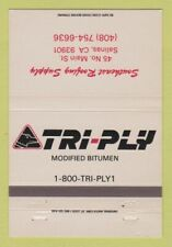 Matchbook Cover - Tri Ply Bitumen Southeast Roofing Salinas CA 40 Strike