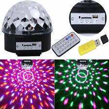 120° MP3 USB Bluetooth LED Stage Effect Light Disco DJ Crystal Magic Ball Party