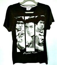 Bruce Lee Men's Graphic Tee Shirt UK M Black V-Neck  Be Like Water Inscription