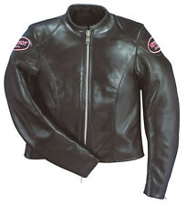"Vanson ACE ""Lace"" leather Motorcycle jacket Ladies Size 10"