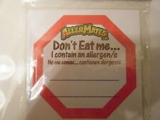 AllerMates Don't Eat Me Food Allergy Stickers Labels Medical ID Alert 24 Pk New
