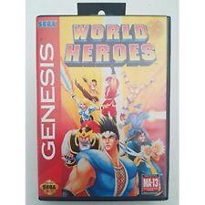 World Heroes For Sega Genesis Vintage