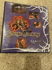 MTG Stronghold Ultra Pro 3-Ring Binder Magic the Gathering Vintage See Pictures