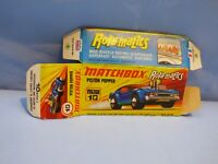 ORIGINAL VINTAGE EMPTY MATCHBOX BOX FOR 10 PISTON POPPER TOY CAR COLLECTIBLE