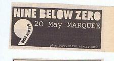 NINE BELOW ZERO - MARQUEE  press clipping 1980 (17/05/80)