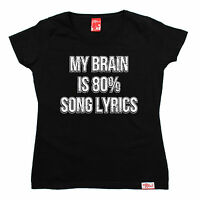 My Brain Is 80% Song Lyrics WOMENS Banned Member T-SHIRT tee birthday fashion