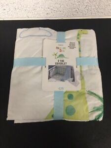 Next 'Roar Like A Dino' Dinosaur 2 Tog Coverlet - Baby Nursery Cot Bed Blanket