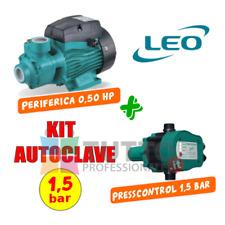 kit pompa autoclave APM37 0,5hp + PRESS CONTROL 1,5 bar cisterna pozzo serbatoio