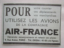 1934-1935 PUB COMPAGNIE AERIENNE AIR FRANCE AIRLINE AVION AVIATION AD