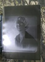 """Antique Glass Dry Plate Photo Negative 5""""×7"""" Photograph Of A Woman"""