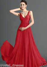 Formal V-neck Wedding Evening Ball Gown Party Cocktail Prom Bridesmaid Dress
