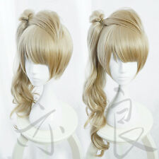 LoveLive! Minami Kotori Long Curly Linen Flaxen Synthetic Hair Cosplay Wig 003A