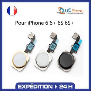 Bouton home + Nappe complet IPhone 6 6S 6 Plus Blanc Noir Gold qualité Premium