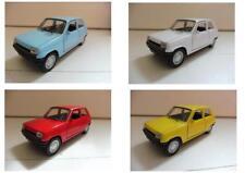 "Lot 4 Renault 5 ""R5"" Bleu, Blanc, Rouge, Jaune 1/38 Welly NEUF Boite d'origine"