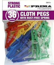 For Modern Washing and Clothes Line Bright Colourful Dolly Pegs Pack of 24