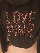 Victorias Secret Pink Gray Fur Hoodie Jacket Nwt S Rare