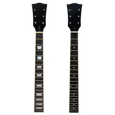 2pcs Electric Guitar Neck for Gibson Les Paul LP Maple Rosewood 22 Fret Black