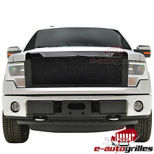 09-14 Ford F150 ABS Glossy Black Mesh Packaged Replacement Grille Grill