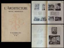 L'ARCHITECTURE 1935 - LACHAUD ET LEGRAND, BRETAGNE, PARIS ST CHRISTOPHE DE JAVEL