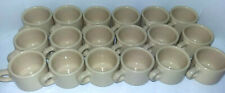 18 pc LOT Vintage BUFFALO China RESTAURANT WARE/CAFE CUPS Tan, Stacking