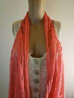 Victoria Women's Topper Vest  Size L XL Pink Coral Waterfall Hem NWT