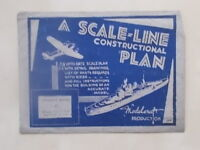 VINTAGE 1940s MODELCRAFT SCALE-LINE PLAN - L.C.A. LANDING CRAFT ASSAULT BARGE