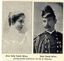 US-Milliardäre * John Jakob Astor & Frau *  Bilddokumente 1901