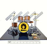 Mini Drum set the DOORS Jim morrison tribute scale 1:4 miniature collectible kit