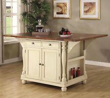 Elegant Buttermilk Kitchen Island Cart Dining Table Dining Room Furniture Sale