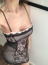 ASOS Lace Bodycon Sexy Dress UK 10 • Excl Condition • Spaghetti Straps